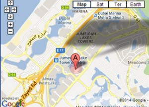 Our office location in Dubai